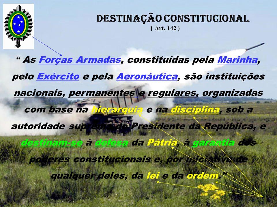 DESTINAÇÃO CONSTITUCIONAL
