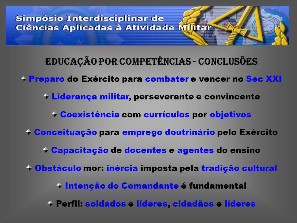 EDUCAÇÃO POR COMPETÊNCIAS - CONCLUSÕES