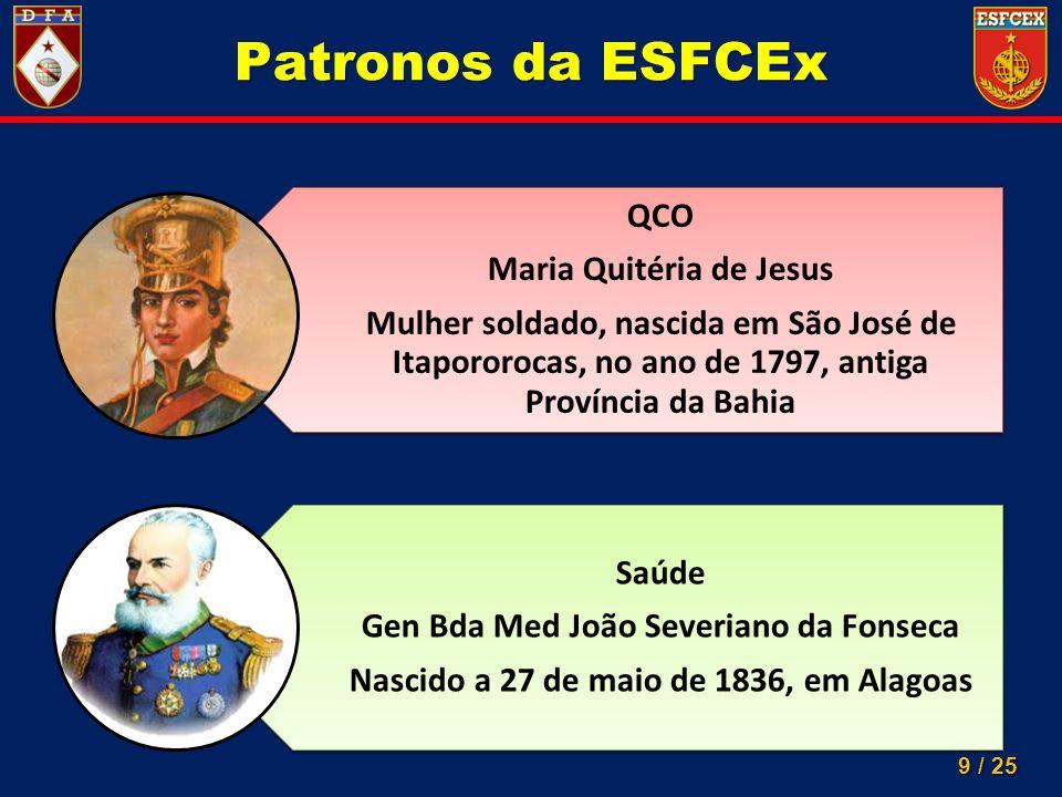 Patronos da ESFCEx QCO Maria Quitéria de Jesus Saúde