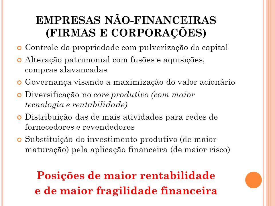 EMPRESAS NÃO-FINANCEIRAS (FIRMAS E CORPORAÇÕES)