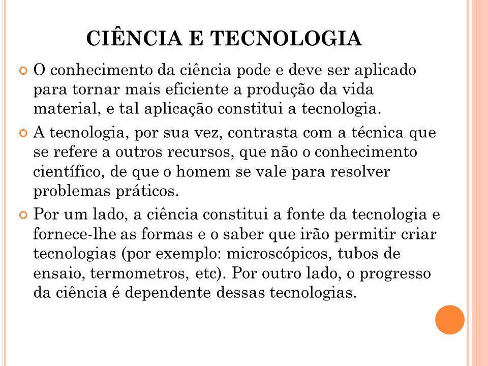 CIÊNCIA E TECNOLOGIA