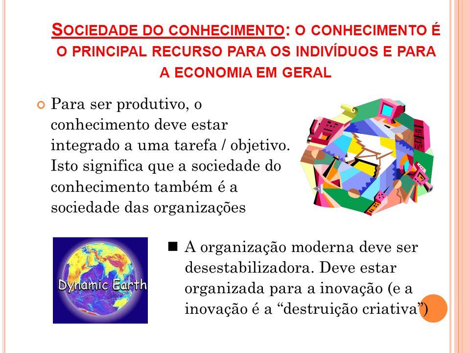 Sociedade do conhecimento: o conhecimento é o principal recurso para os indivíduos e para a economia em geral