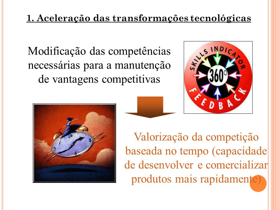1. Aceleração das transformações tecnológicas