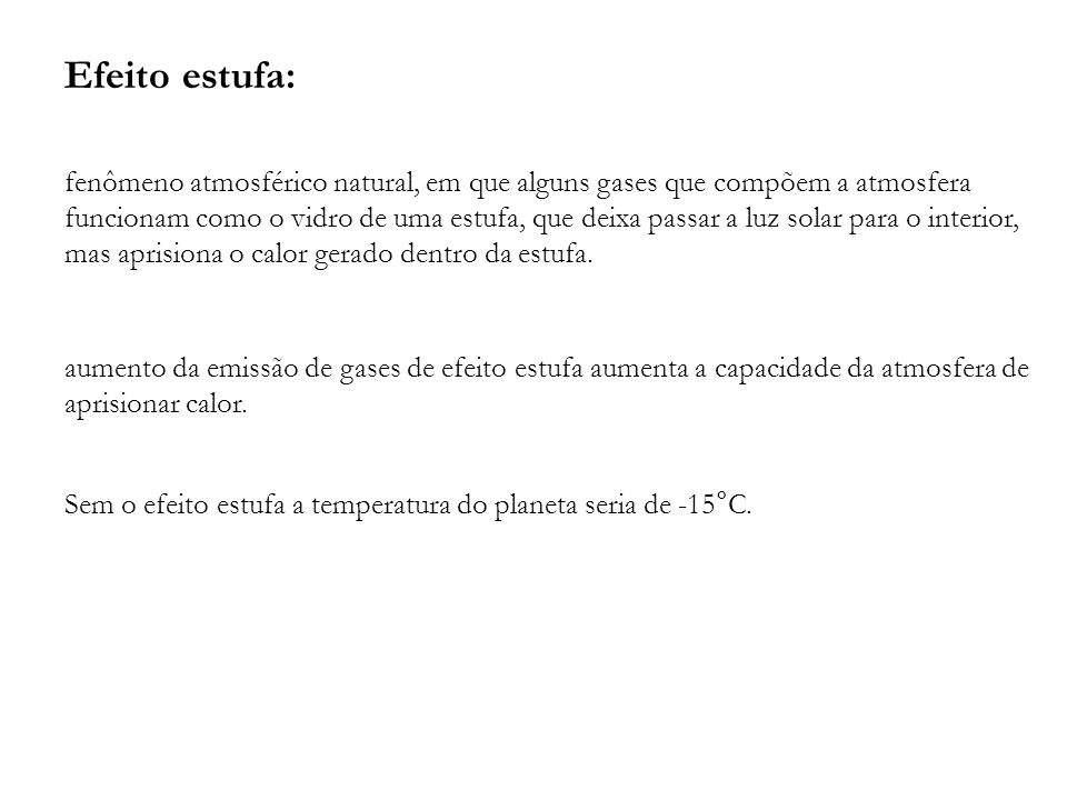 Efeito estufa: