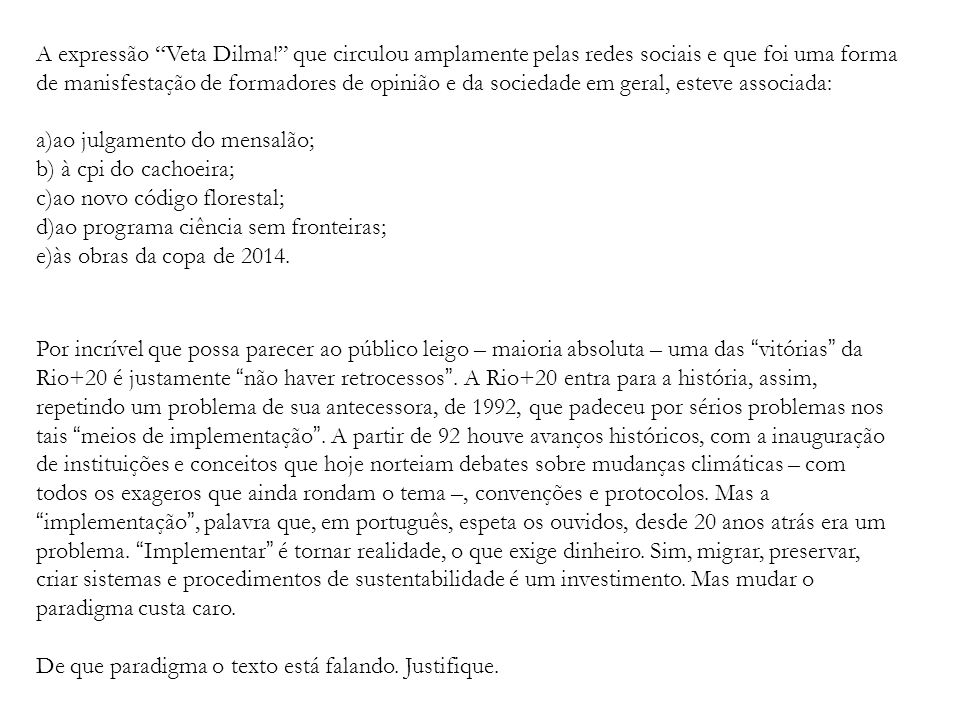 A expressão Veta Dilma