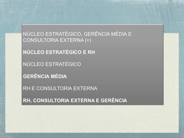 NÚCLEO ESTRATÉGICO, GERÊNCIA MÉDIA E