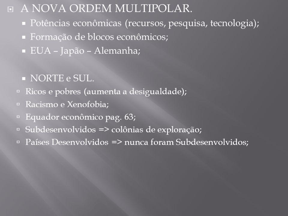 A NOVA ORDEM MULTIPOLAR.