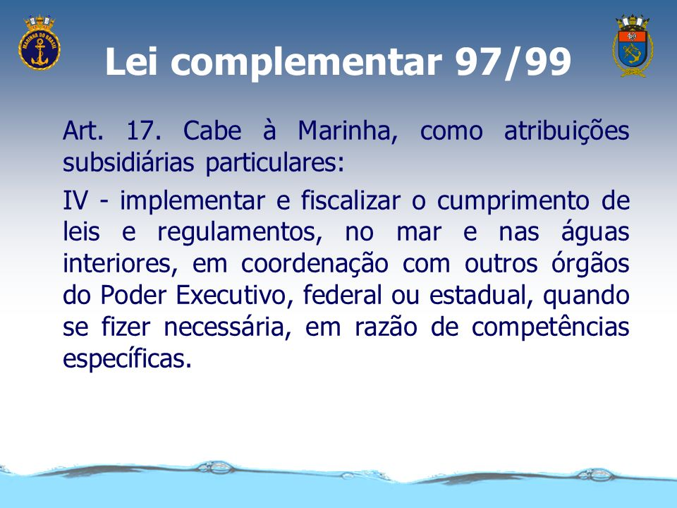 Lei complementar 97/99