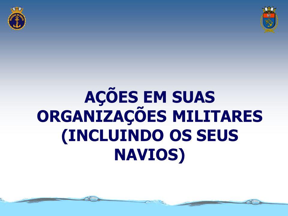 AÇÕES EM SUAS ORGANIZAÇÕES MILITARES (INCLUINDO OS SEUS NAVIOS)