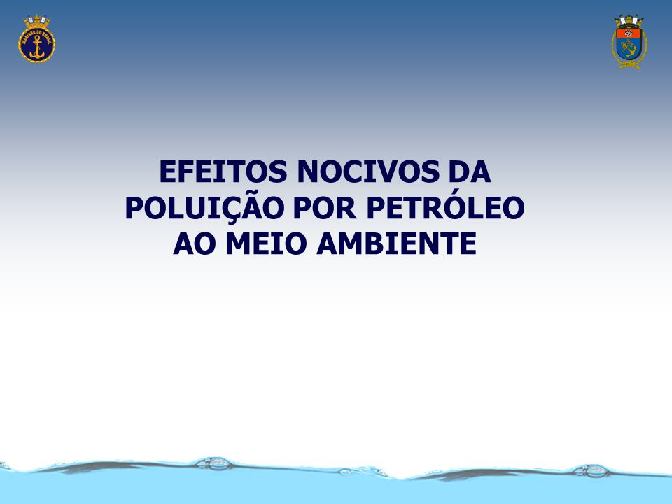 EFEITOS NOCIVOS DA POLUIÇÃO POR PETRÓLEO AO MEIO AMBIENTE