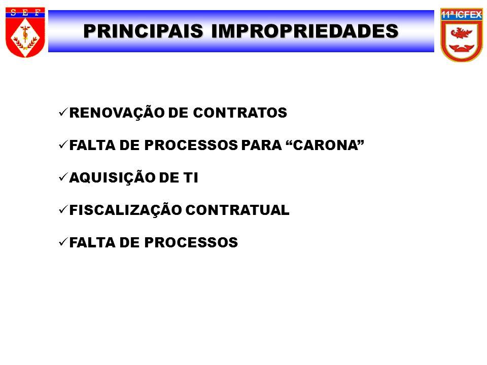 PRINCIPAIS IMPROPRIEDADES