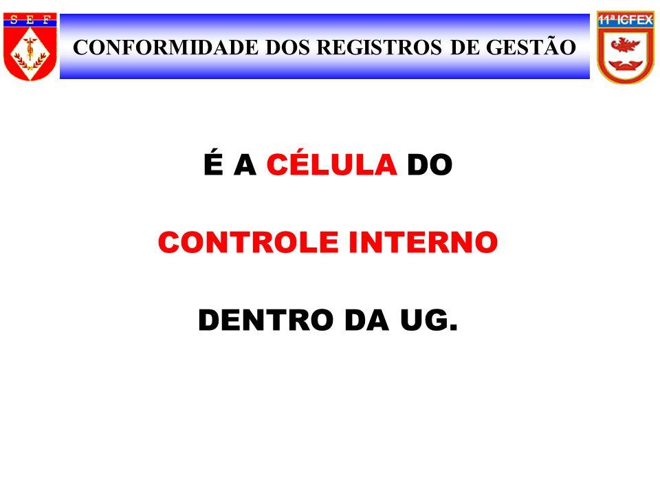 SIAFI É A CÉLULA DO CONTROLE INTERNO DENTRO DA UG.