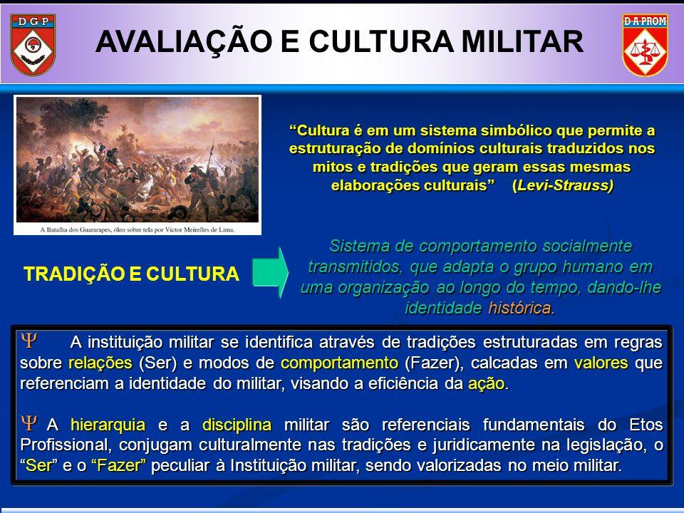 AVALIAÇÃO E CULTURA MILITAR