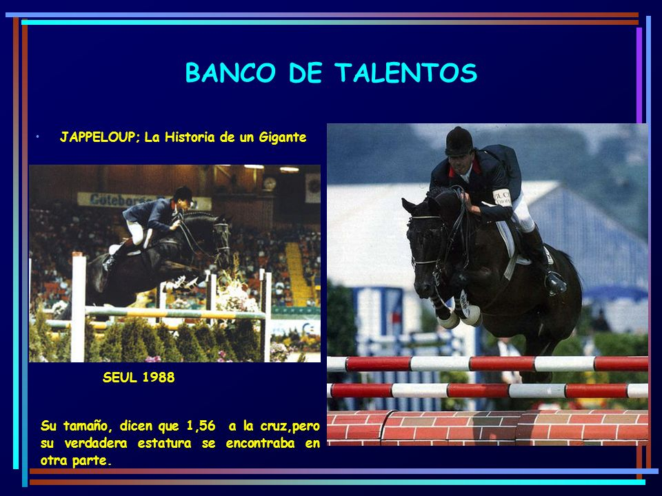 BANCO DE TALENTOS JAPPELOUP; La Historia de un Gigante SEUL 1988