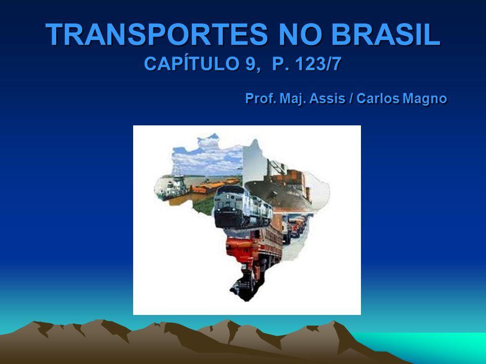 TRANSPORTES NO BRASIL CAPÍTULO 9, P. 123/7 Prof. Maj