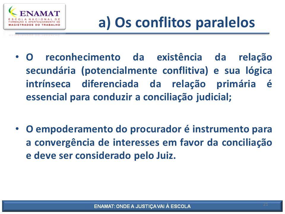 a) Os conflitos paralelos