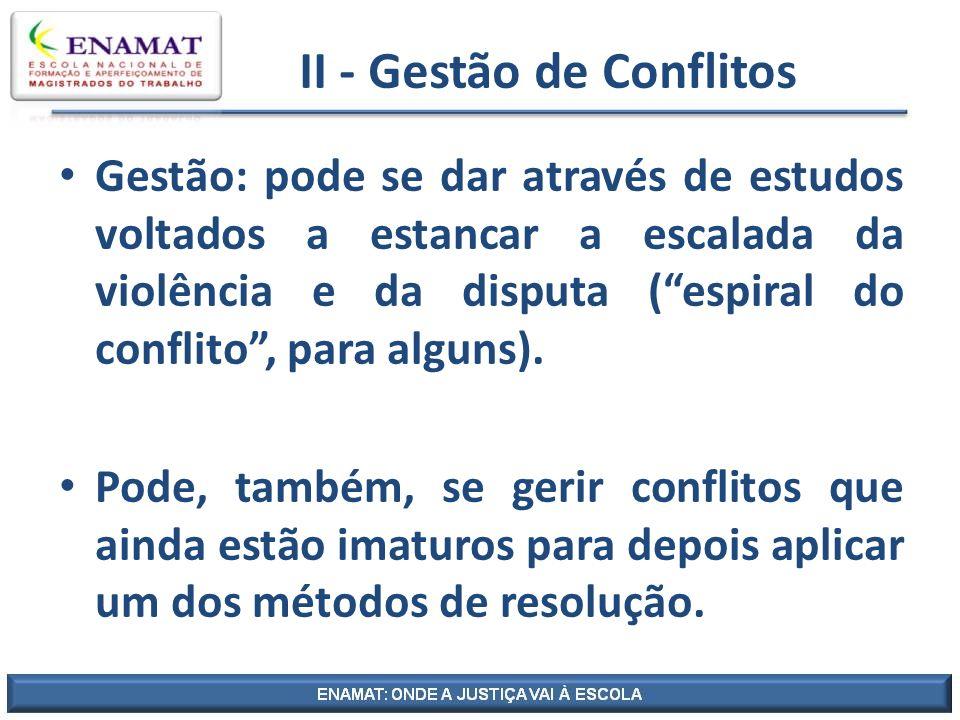 II - Gestão de Conflitos