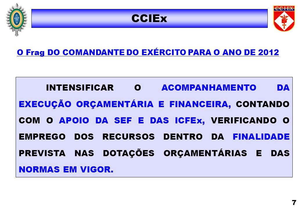 O Frag DO COMANDANTE DO EXÉRCITO PARA O ANO DE 2012