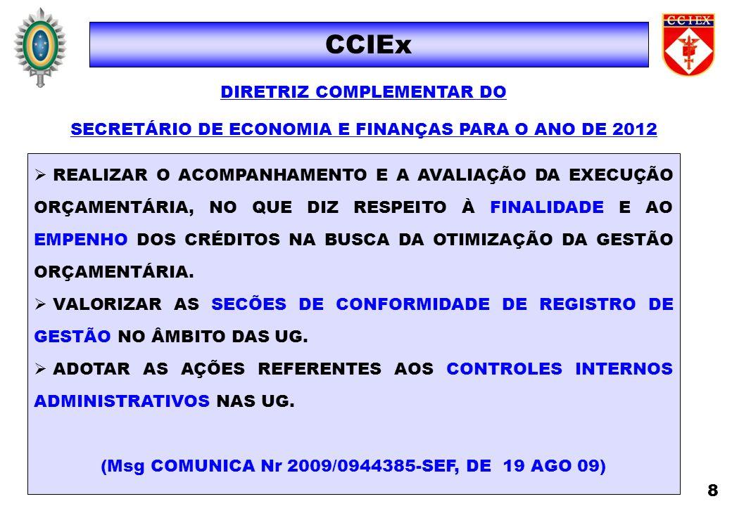 CCIEx DIRETRIZ COMPLEMENTAR DO