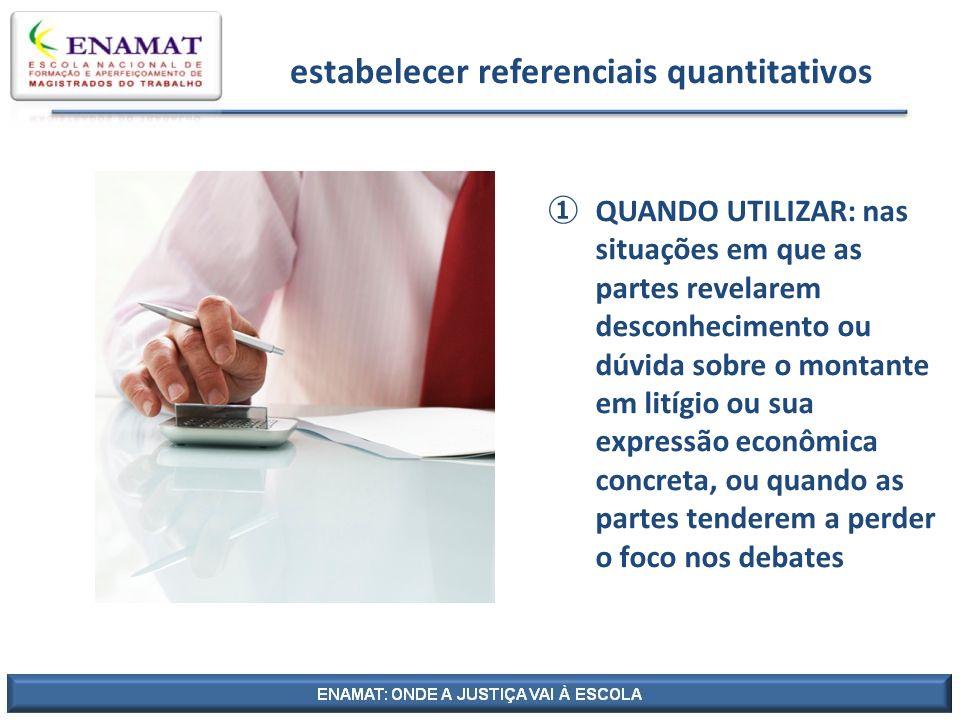 estabelecer referenciais quantitativos