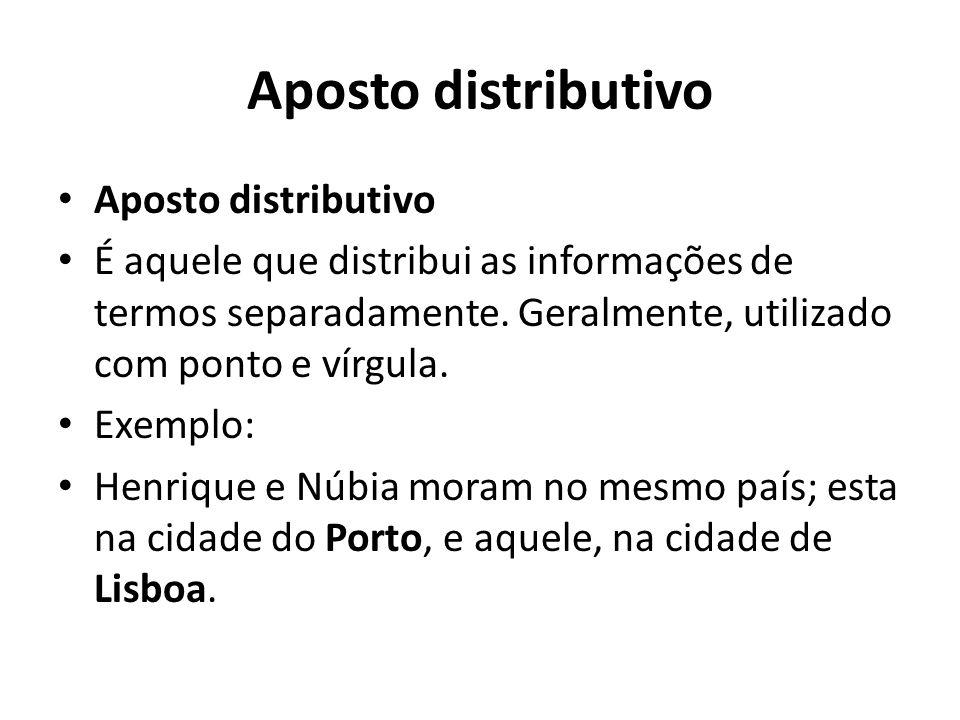 Aposto distributivo Aposto distributivo