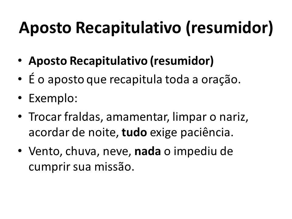 Aposto Recapitulativo (resumidor)