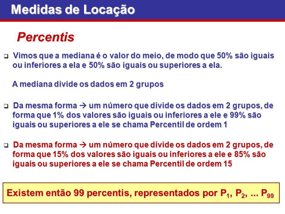 Medidas de Locação Percentis