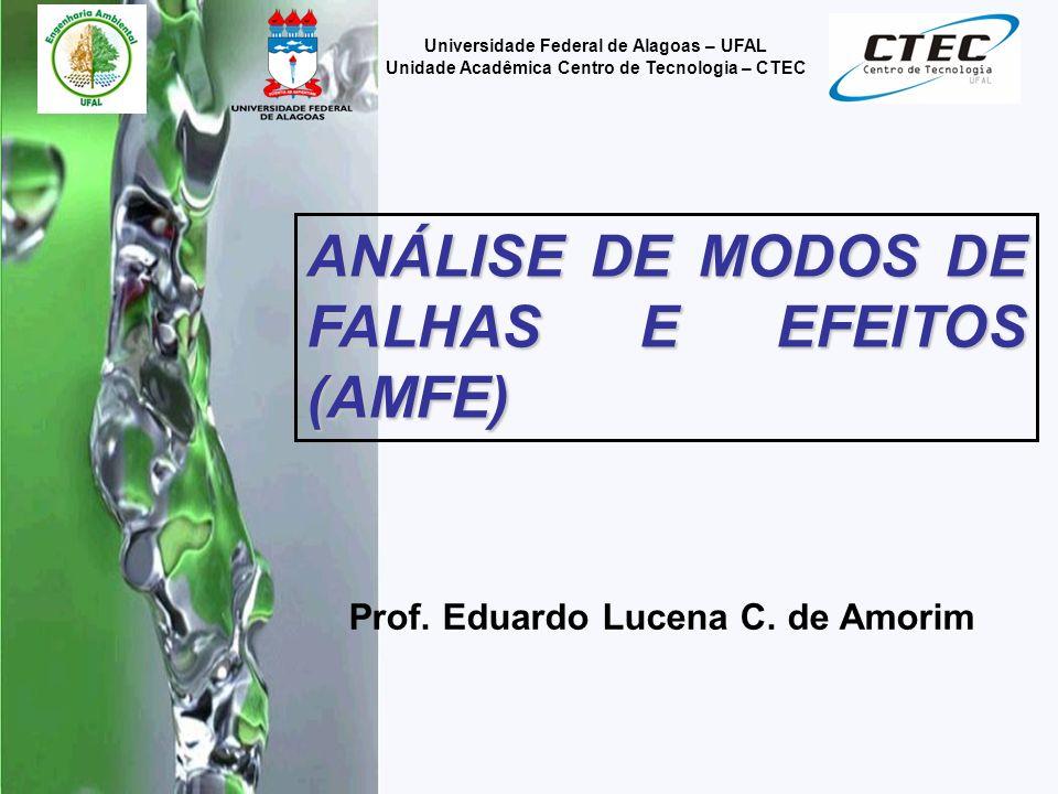 ANÁLISE DE MODOS DE FALHAS E EFEITOS (AMFE)