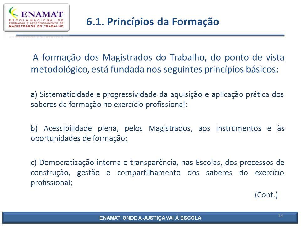 6.1. Princípios da Formação