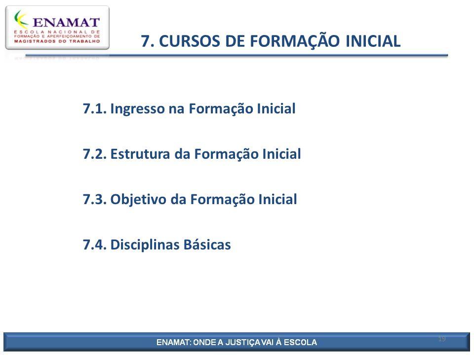 7. CURSOS DE FORMAÇÃO INICIAL