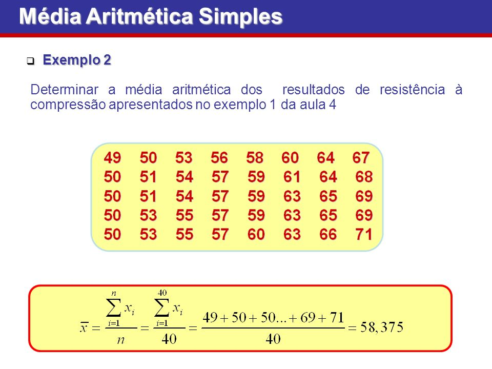 Média Aritmética Simples