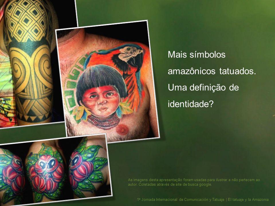 Mais símbolos amazônicos tatuados. Uma definição de identidade