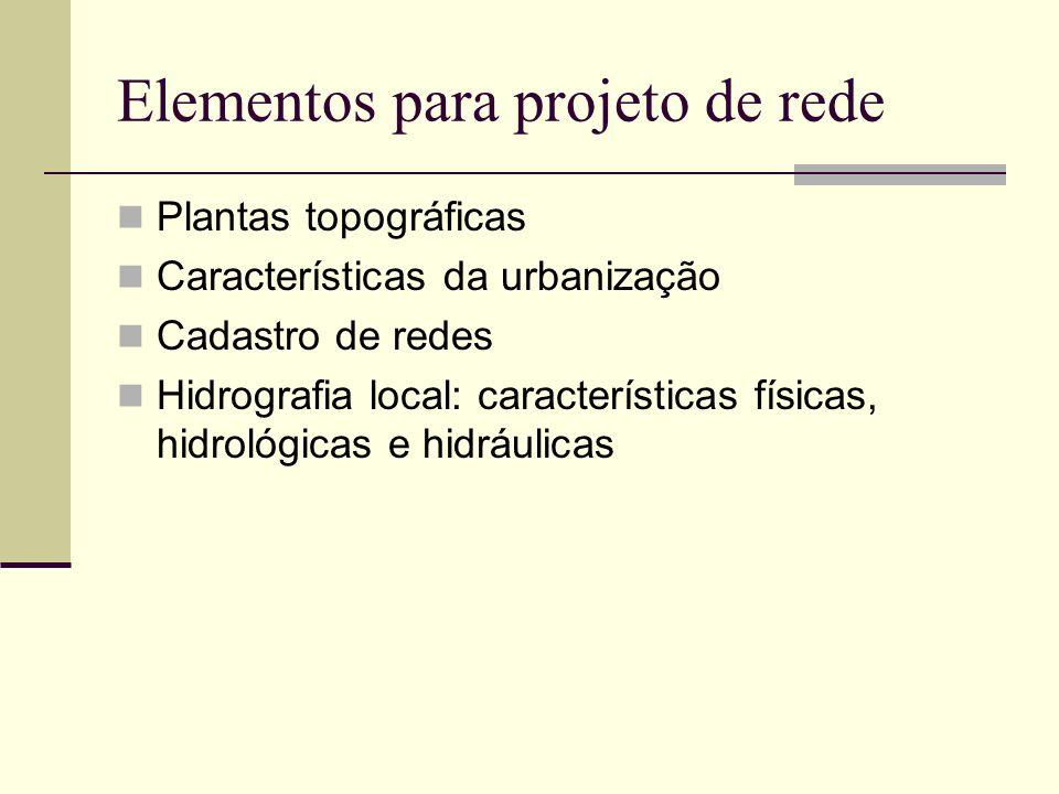 Elementos para projeto de rede