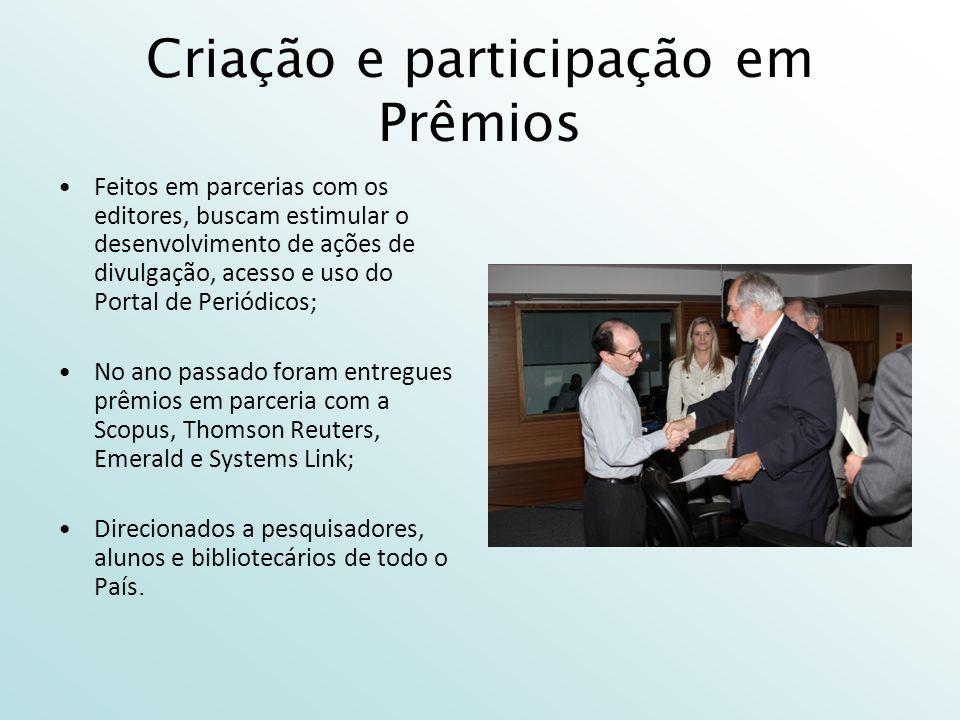 Criação e participação em Prêmios