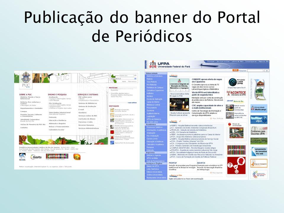 Publicação do banner do Portal de Periódicos