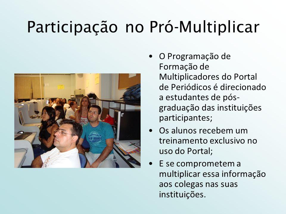 Participação no Pró-Multiplicar