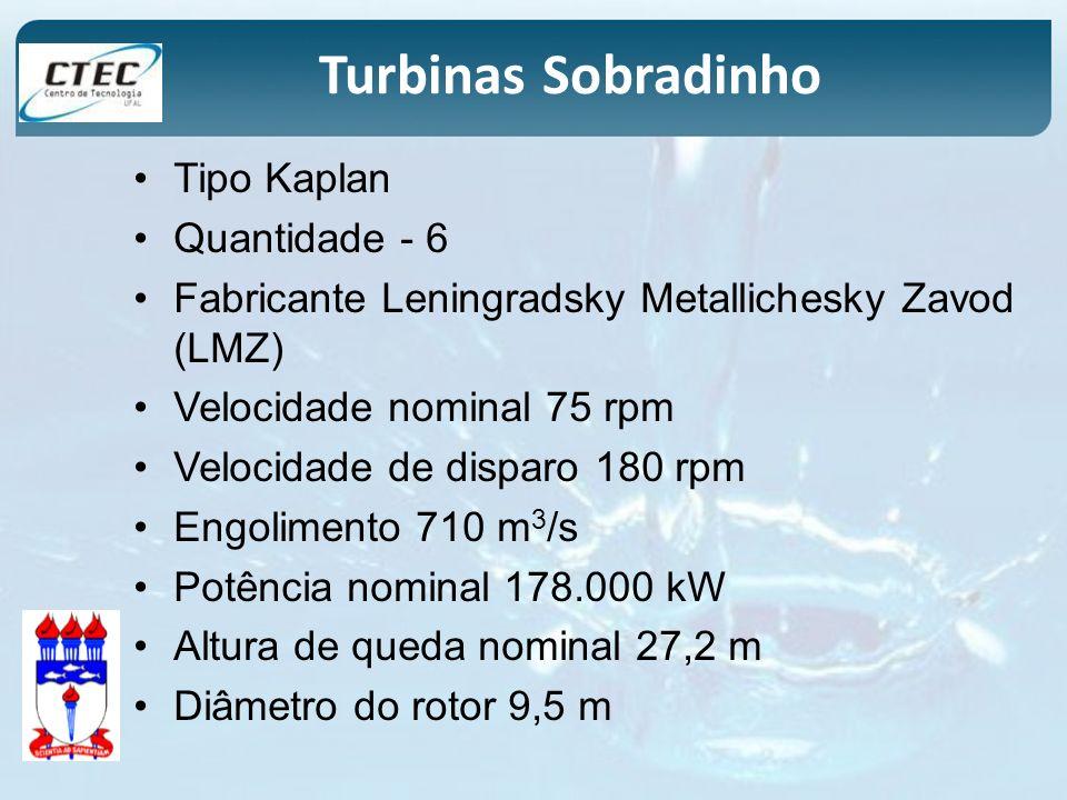 Turbinas Sobradinho Tipo Kaplan Quantidade - 6