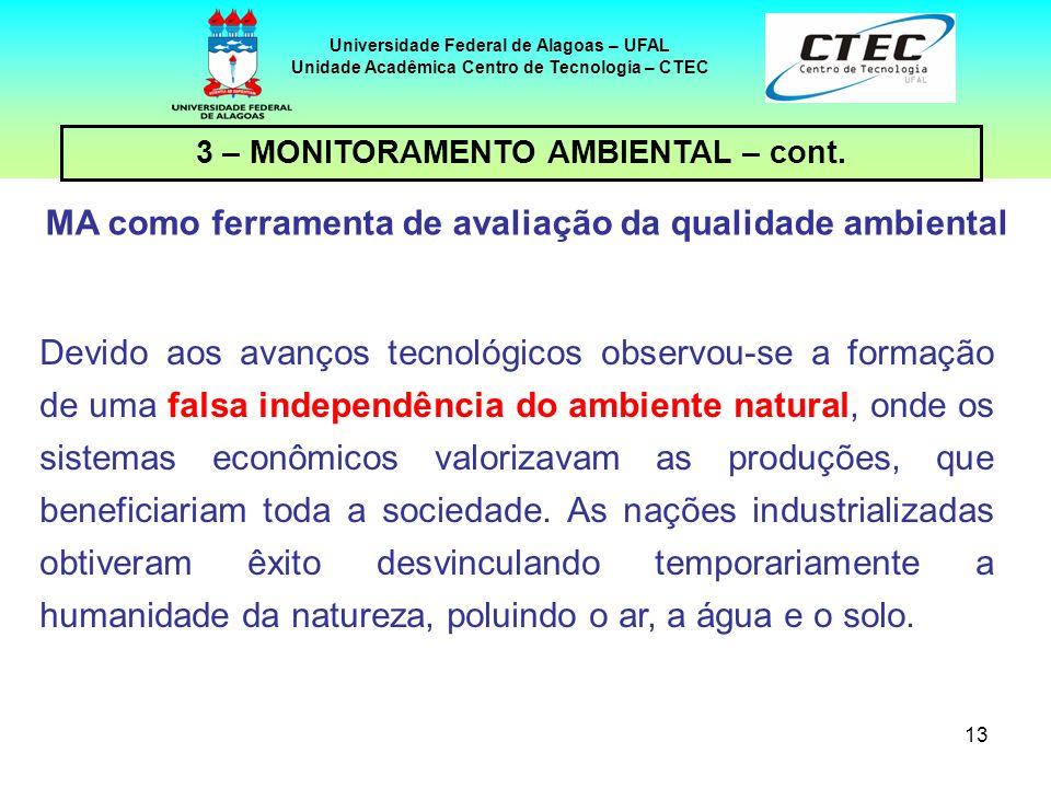 MA como ferramenta de avaliação da qualidade ambiental