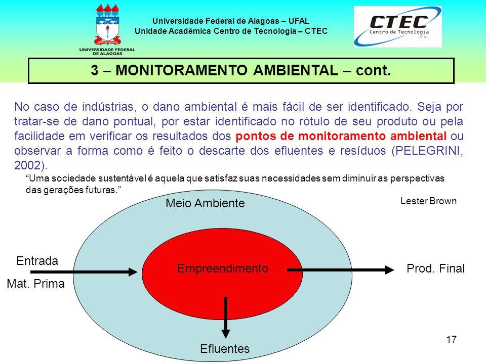 3 – MONITORAMENTO AMBIENTAL – cont.