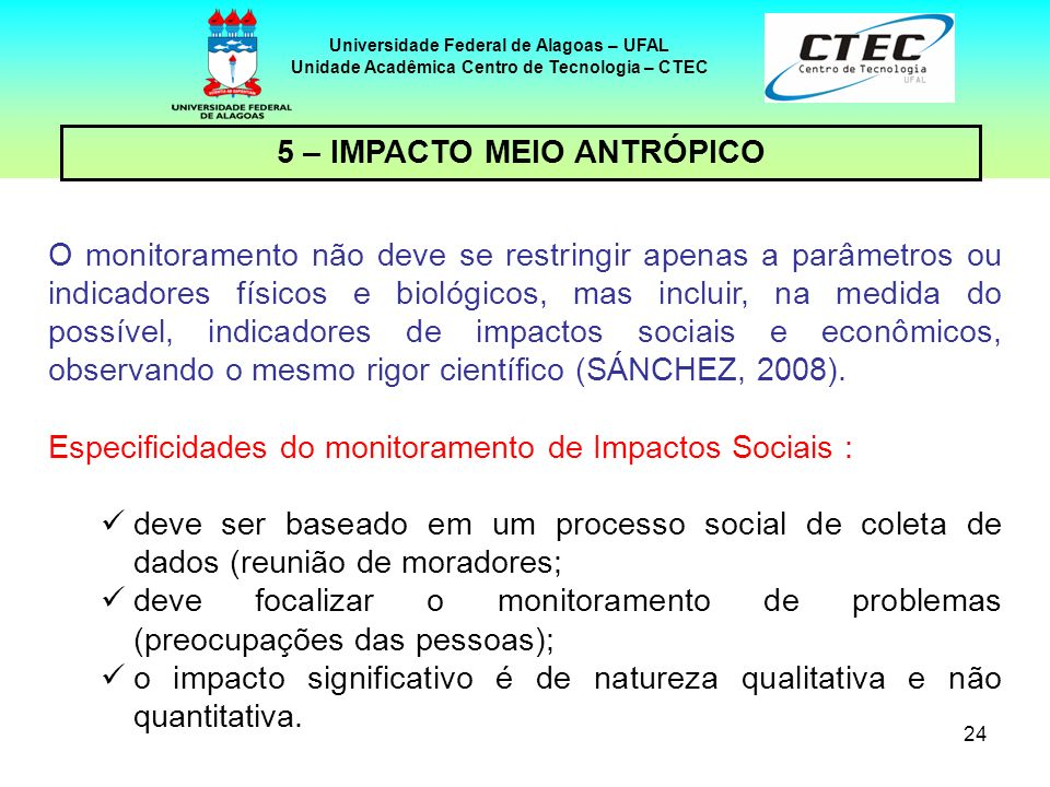 5 – IMPACTO MEIO ANTRÓPICO