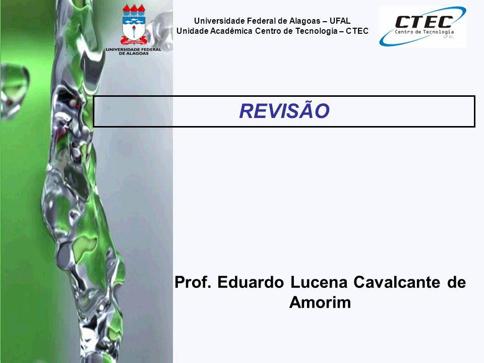 REVISÃO Prof. Eduardo Lucena Cavalcante de Amorim