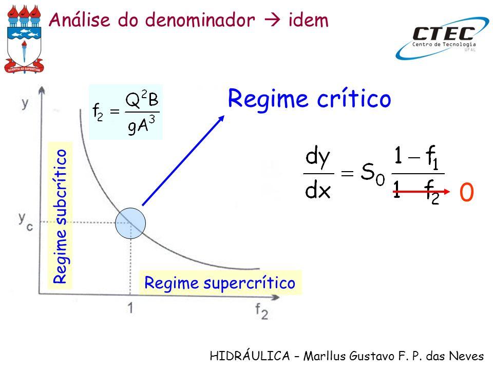 Regime crítico Análise do denominador  idem Regime subcrítico
