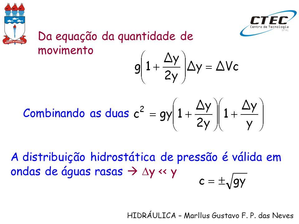 Da equação da quantidade de movimento