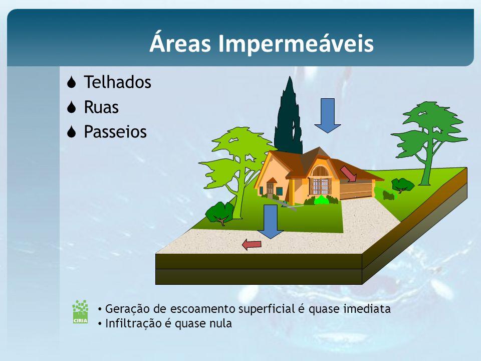 Áreas Impermeáveis Telhados Ruas Passeios General audience Planners