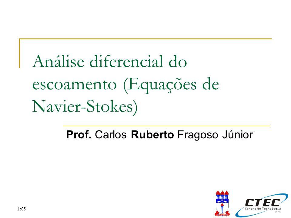 Análise diferencial do escoamento (Equações de Navier-Stokes)