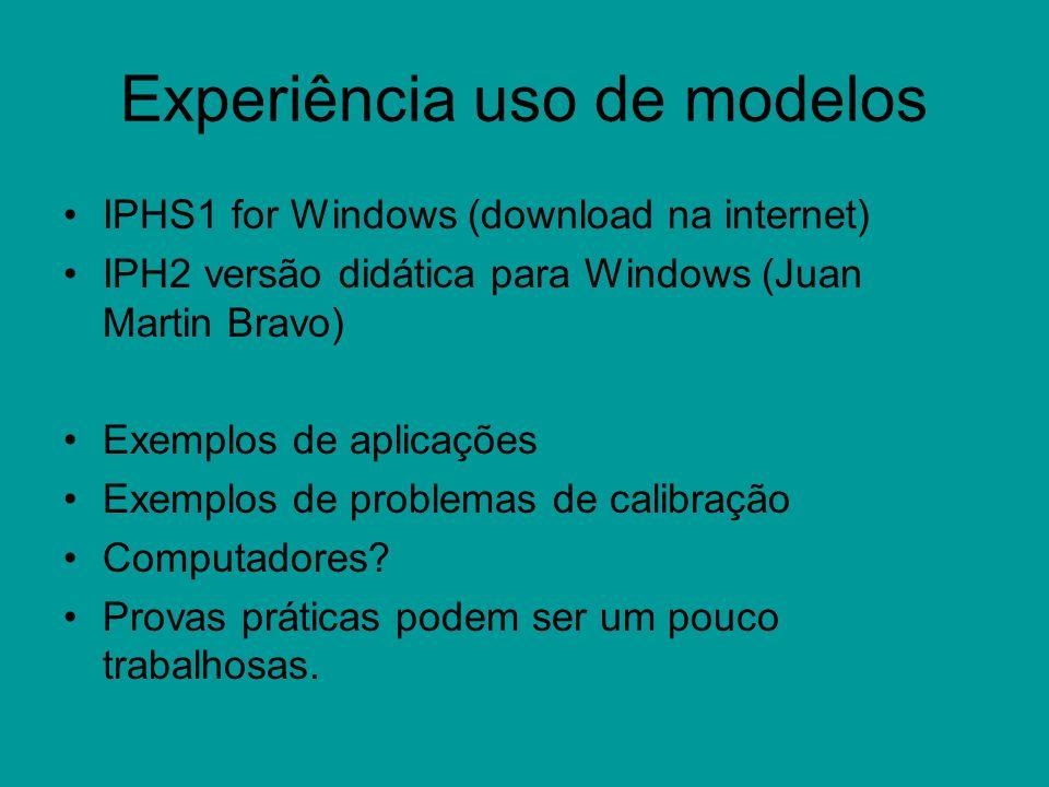 Experiência uso de modelos