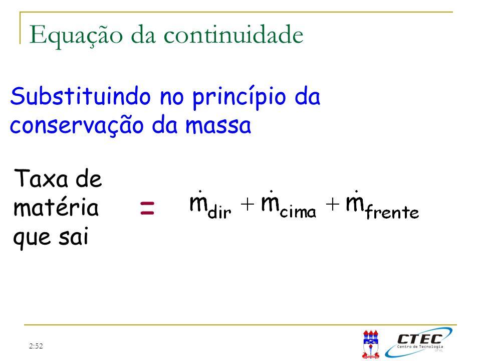 = Equação da continuidade