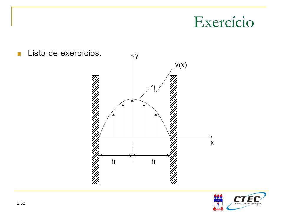 Exercício Lista de exercícios. y v(x) x h h 2:52
