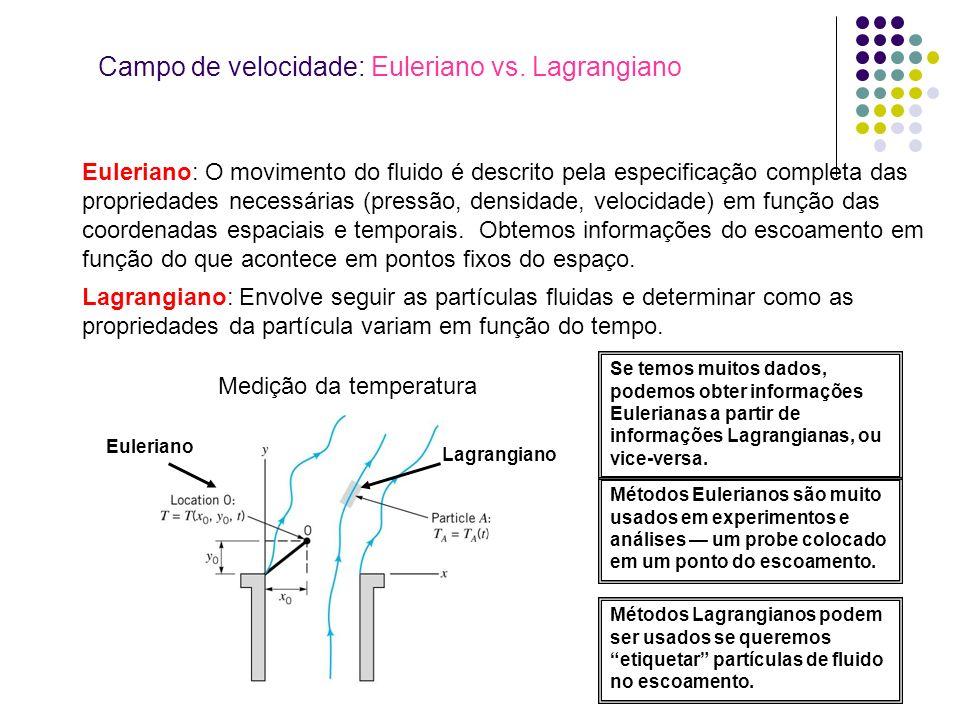 Campo de velocidade: Euleriano vs. Lagrangiano