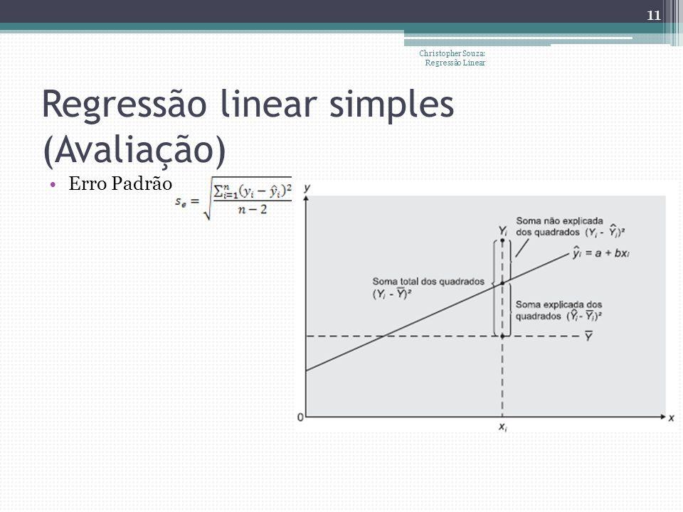 Regressão linear simples (Avaliação)